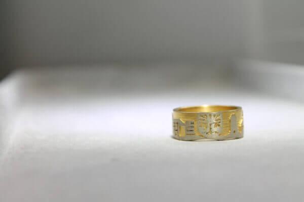 Hagen Ring in Gold mit Wapen der Stadt Hagen