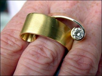 Ring 750/- Gold, Brillant.