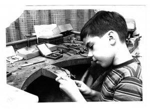 Früh übt sich = Ingo Adam in der Väterlichen Werkstatt