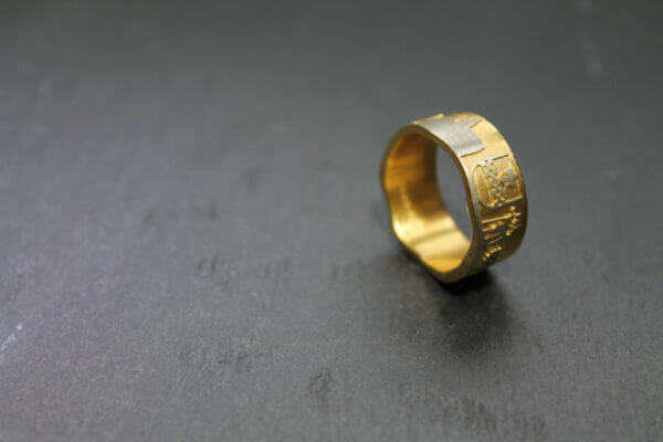 Breckerfeld Ring in vergoldet mit Wapen der Stadt Breckerfeld 2