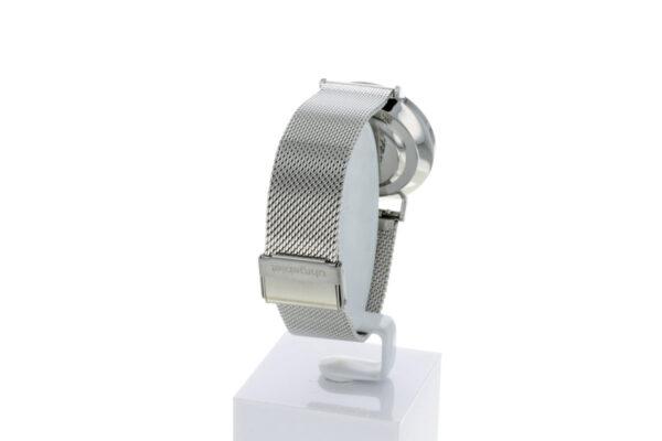 Hagen Uhr HagenUhr36MB in Edelstahloptik in 36mm Durchmesser mit Milanese Armband - ansicht von hinten links