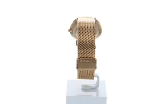 Hagen Uhr HagenUhr36MBR in Roségolf vergoldet in 36mm Durchmesser - Ansicht von hinten