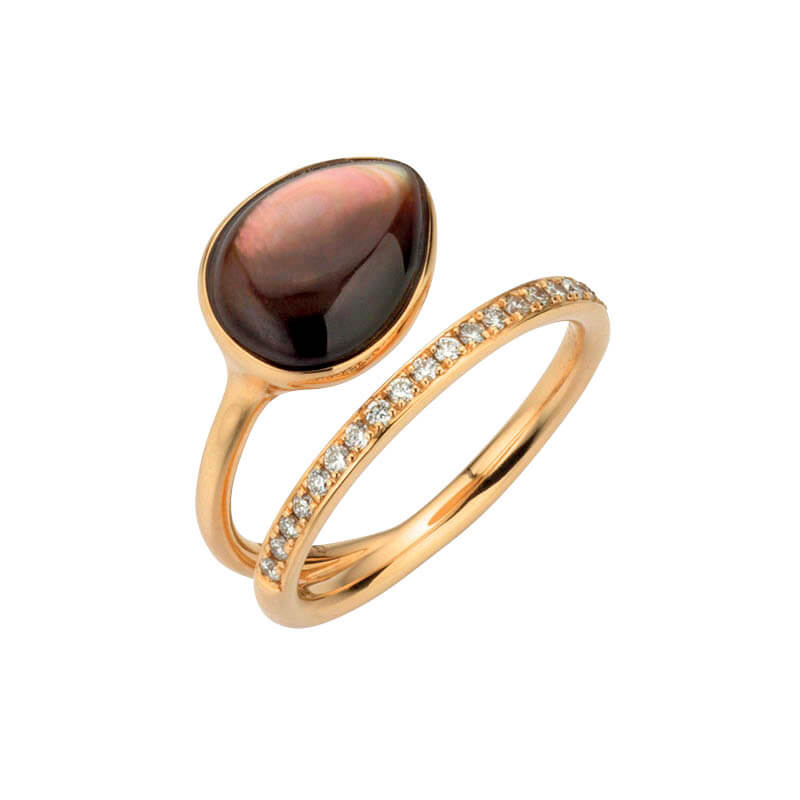 Gellner Roségold Ring mit Perlmut 5-23428-02 5-010-23428-7050-0002