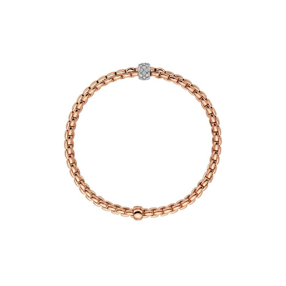 FOPE Armband 733B mit Diamantpavé in Rosegold Seitenansicht