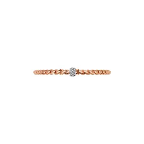 FOPE Armband 733B mit Diamantpavé in Rosegold Ansicht von Oben