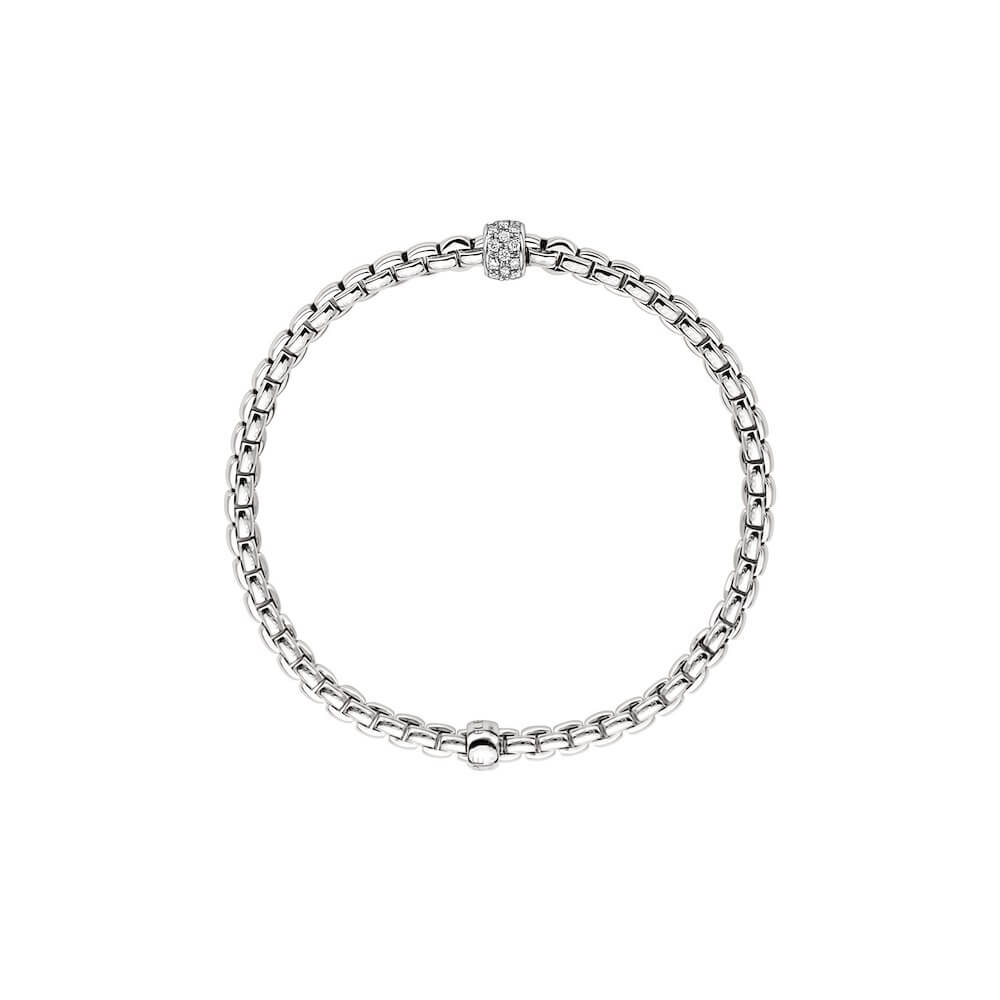 FOPE Armband 733B mit Diamantpavé Seitenanicht