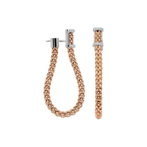 FOPE Ohrringe aus flexiblem Rosegold mit Brillanten